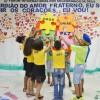 """RECIFE, PE — Com o tema """"Guardião do Amor Fraterno, eu sou! Unir os corações, eu vou!"""", as criançasprotagonizaram uma belíssima apresentação cultural de dançaque arrancou aplausos de toda a plateia."""