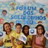 Recife, PE — As famílias se reúnem na Igreja da Religião divina para acompanharem a abertura do Fórum Internacional dos Soldadinhos de Deus, da LBV.