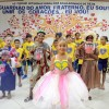 RECIFE, PE — Dentre as apresentações culturais do dia, as crianças dançaram a música tema do 16º Fórum, intitulada: