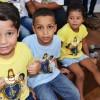 Rio de Janeiro, RJ — Os Soldadinhos de Deus, da LBV, registram, com um sorriso no rosto, a participação nas atividades de abertura da 17ª edição do evento. =D