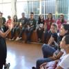 """Rio de Janeiro, RJ — Juventude legionária se reúne para dia de apresentações culturais e atividades em torno do tema """"A urgência de viver o 'Amai-vos como Eu vos amei', de Jesus""""."""