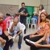 Recife, PE - Pregadores ecumênicos da Religião Divina conduzem a oficinadas Famílias de Boa Vontade.