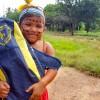 Rondonópolis, MT — A pintura de rosto, típica dos indígenas, foi escolhida especialmente para a ocasião, enaltecendo o sorriso de alegria de centenas de crianças e adolescentes da comunidade indígena.