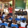 Rondonópolis, MT — O presente da LBV é composto por itens de acordo com a faixa etária dos estudantes, como: estojo, lápis preto e de cor, canetas, borrachas, tesoura, tubos de cola, cadernos, mochila, dicionários de Português e de Inglês entre outros.