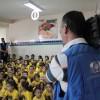Anápolis, GO — A TV Anhanguera, filiada da Rede Globo em Goiás, fez a cobertura da ação da LBV em prol da educação na cidade anapolina.