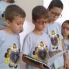 Franca, SP — As crianças conduziram o estudo da Bíblia Sagrada. Elas leram a passagem A Cura da Filha de Jairo (Marcos, 5:21 a43).