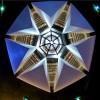SÁBADO, 8 — Vista aérea da Pirâmide de Sete Faces, o Templo do Ecumenismo Divino, apósa Sessão Solene. Na foto tirada por um drone, é possível ver peregrinos caminhando na espiral.