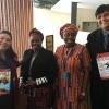 NOVJORKO, USONO — Delegacianoj de Niĝerio ankaŭ ricevis la mesaĝon de Legio de Bona Volo okaze de la konferenco. Dekstre al maldekstre: Adriana Rocha, de LBV; d-rino NosaI.Aladeselu, fondinto kaj prezidanto deAfrican Women Empowerment Guild (AWEG);Ebere Ifendu, prezidanto de la organizaĵo Women In Politics Forum (WIPF); kaj Danilo Parmegiani, reprezentanto de Legio de Bona Volo ĉe Unuiĝintaj Nacioj.