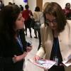 NOVJORKO, USONO — Eliana Gonçalves (maldekstre), de LBV, prezentas la rekomendojn de tiu Institucio al Sarah Sewall, ŝtata subsekretariino de Usono por Demokatio kaj Homaj Rajtoj.