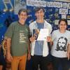 UBERLÂNDIA, MG — O Jovem Legionário Frank Willian, de São Sebastião do Paraiso, MG, recebeu seu certificado de participação do Festival Internacional de Música, da LBV.