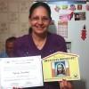 SÃO SEBASTIÃO DO PARAÍSO, MG — O casal Irene Lucia e Flavio de Souzarecebe em sua casa o Diploma de Igreja Familiar da Religião de Deus, do Cristo e do Espírito Santo.