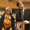Sra. Soodabeh Radars, representante da Delegação do Irã, com Danilo Parmegiani, da LBV.