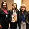 Da esquerda para a direita:Silvana Guerra, presidente da Comissão de Gênero do Ministério de Relações Exteriores do Uruguai, Adriana Parmegiani, da LBV, eMariella Mazzotti, diretora do Instituto Nacional das Mulheres do Governo do Uruguai.