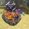 Mogi das Cruzes, SP— Um grande coração foi formado pelas crianças após receberem os kits pedagógicos. Olha que lindo \o/