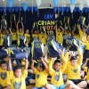 Piracicaba/SP — Neste ano, mais de 22 mil kits chegarão às mãos de estudantes das escolas da LBV, meninas e meninos atendidos pelos Centros Comunitários da Instituição e de atendidos por organizações parceiras delas.