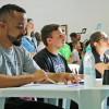 Americana, SP - Grupo de jurados do Festival Internacional de Música, da LBV. Da esquerda para a direita: Pedro Rafael Valadares (jurado temático),José Nilton Tonin (jurado musical)e Carolina Salomão (jurada de Performance).