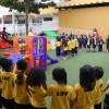 Taguatinga, DF - A nova área de lazer da Escola de Educação Infantil, da LBV, proporciona um ambiente descontraído e divertido, saudável e seguro e contribui para o desenvolvimento das habilidades cognitivas, afetivas e sociais das crianças.