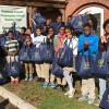 Oakwood Ave. School students of Orange, NJ receive food baskets from LGW's Everlasting Christmas campaign.