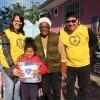 Porto Alegre, RS — Famílias atendidas na Instituição de Educação Infantil Pé de Moleque, parceira da Legião da Boa Vontade, também receberam doações de cobertores arrecadados na Campanha Diga Sim!
