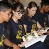 Curitiba/PR —Jovens acompanham a leitura do livro Missão dos Setenta e o