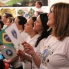 São Paulo, SP —Com atenção, a garotada e as famílias presentes na Igreja Ecumênica da Religião do Amor Fraterno acompanham as palavras do Irmão Paiva Netto.