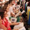 São Paulo, SP —Muita unção espiritual durante a Sessão Solene que dá início ao 14° Fórum Internacional dos Soldadinhos de Deus, da LBV, com as palavras do Irmão Paiva Netto.