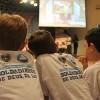 São Paulo/SP —Com atenção, a garotada e as famílias presentes na Igreja Ecumênica da Religião do Amor Fraterno acompanham as palavras do Irmão Paiva Netto.