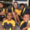 Ribeirão Preto, SP - Parte das crianças que foram beneficiadas com a Campanha da LBV que visa incentivar os alunos nos estudos :D
