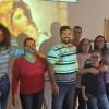 SANTA RITA DO SAPUCAÍ, MG — Durante a programação, diversas famílias fizeram seus Testemunhos do Poder da Fé Realizante.