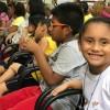 Manaus, AM — Em meio a muitos sorrisos, as crianças participam da abertura do 17º Fórum Internacional dos Soldadinhos de Deus, da LBV.=D