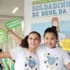 """Porto Alegre, RS — O evento traz umasérie de atividades e reflexões sobre o tema """"As crianças e a construção da Paz, pelo fim da violência!"""". As ações sãoprotagonizadaspelos próprios Soldadinhos de Deus, como são carinhosamente chamadas as crianças na Instituição."""