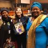 Integrantes da delegação da Nigéria, Anety Anne Aliu (E) e Friya Kimde Bulus (D), coordenadoras nacionais de projetos do Ministério Federal dos Assuntos de Mulheres e Desenvolvimento Social.