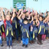 Palmital, PR – Alunos da Escola do Campo Coelho Neto, na região rural Arroio Moreira, recebem kits pedagógicos da Campanha da LBV.