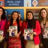 Da esquerda para a direita: Karinne Lima, da LBV; Khumtiya Debbarma, integrante da delegação da Índia; Saengrawee Suweerakan, da delegação da Tailândia; e Sâmara Malaman, representante da LBV.