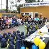 Curitiba, PR - A campanha Criança Nota 10! disponibiliza aos atendidos kits de material pedagógico com cadernos, lápis de cor, canetas, dicionários e vários outros itens para o dia a dia na escola.