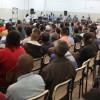 SÃO PAULO, SP — Vista parcial dos atendidos pelo Complexo Boracea durante a palavra dos representantes da Religião do Amor Fraterno.