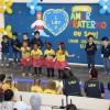 CURITIBA, PR — Dentre as apresentações culturais do dia, as crianças atendidasnoCentro de Educação Infantil José de Paiva Netto, da LBV,dançaram a música tema do evento, intitulada: