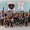 Imarui/SC: Alegria dos estudantes e corpo docente da escola Municipal José Tomás Ribeiro, localizadana comunidade rural Cangueri de Fora.