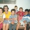 Minha bisavó Hilda Ferreira Pimenta, de Ituiutaba/MG, foi a primeira da família a ingressar nas atividades da LBV. Na foto, 3 gerações depois, os bisnetos (da direita para a esquerda), Joaquim, Vanessa, Lucas, Fernando, Emilly, Jefferson e eu. (Jesiel Jr.)