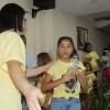 Florianópolis, SC — Após a Unção Ecumênica, todas as crianças receberam uma garrafa com água fluidificada.