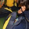 Glorinha/RS - Olha só a carinha de surpresa da pequena Alejandra, de 9 anos, ao abrir sua mochila e ver tudo o que tinha dentro \o/