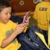 Glorinha/RS - O pequeno Lourenço, 7 anos, deixou um recado ao receber seu kit: