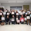 Itajai/SC: As famílias se reuniram no Instituto Poly, onde aconteceu a entrega dos cobertores da LBV.