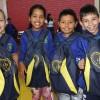 Passo Fundo/RS - Guris e gurias beneficiadas pela LBV exibem com orgulho seu kit de material escolar.