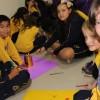 PORTO ALEGRE, RS — As crianças registram com alegria sua participação na abertura do 16ª Fórum Internacional dos Soldadinhos de Deus, da LBV.