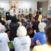 Porto Alegre, RS — Os Soldadinhos de Deus, da LBV, apresentaram a coreografia da musica tema do Fórum:
