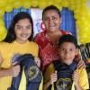 Manaus/AM - Durante a entrega dos kits pedagógicos, crianças e familiares estiveram presentes para prestigiar a programação.