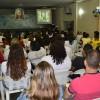 Recife, PE — Público acompanha atentamente as palavras do dirigente das Instituições da Boa Vontade, Paiva Netto, criador do Fórum, transmitidas via satélite para o Brasil e para o mundo.