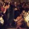 """La virino Kanaana (Evangelio laŭ Mateo, 15:21-28). Laŭ tiu ĉi teksto, Jesuo uzas la kuraĝon de tiu virino kaj respondas al ŝi: """"Mi ne estas sendita, krom al la perditaj ŝafoj el la domo de Izrael"""" (15:24). Kontestante ŝin antaŭ ĉiuj, Jesuo tamen ne riproĉas ŝin, sed donas oportunon, por ke ŝi asertu publike, kiu ŝi estas. Per sia respondo, la Kanaanino deklaris sian indecon por simile profiti de la spirita festeno oferata de la Kristo, eĉ se per pecetoj. Kortuŝas nin Lia deklaro: """"Ho virino, granda estas via fido; estu al vi, kiel vi volas"""" (15:28)."""