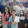 UBERLÂNDIA, MG — O Soldadinho de Deus, da LBV, João Gabriel de Souza, de Araxá, MG,recebeu o certificado de participação.